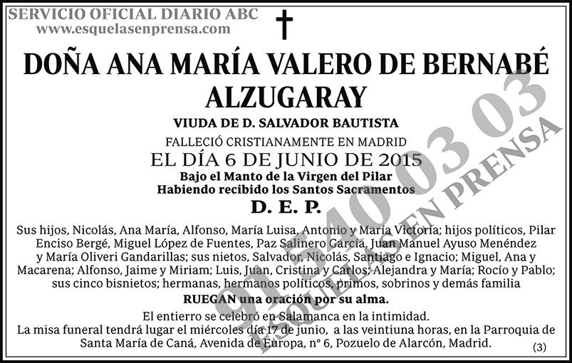 Ana María Valero de Bernabé Alzugaray